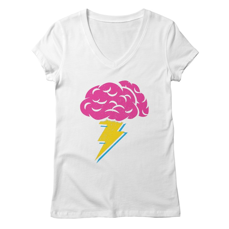Brainstorm Women's V-Neck by Rocket Artist Shop
