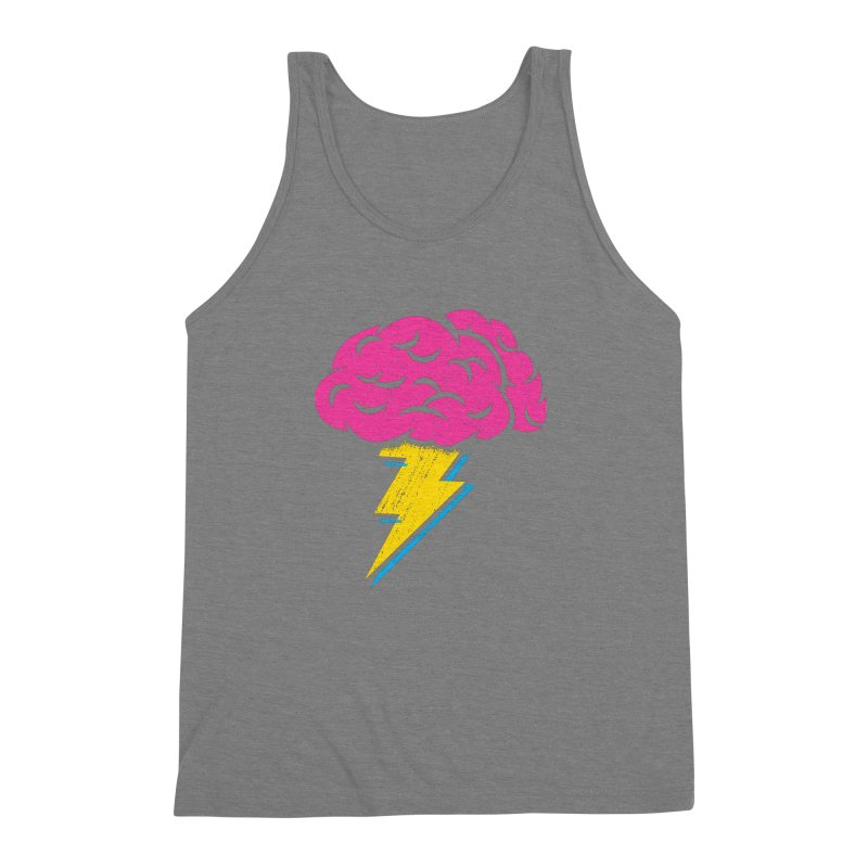 Brainstorm Men's Triblend Tank by Rocket Artist Shop