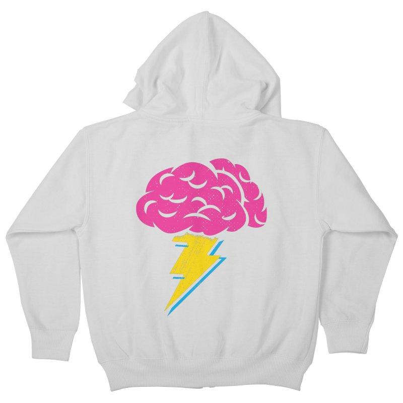 Brainstorm Kids Zip-Up Hoody by Rocket Artist Shop