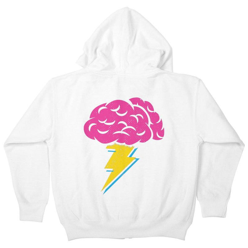 Brainstorm Kids Zip-Up Hoody by Rocket Artist Shop