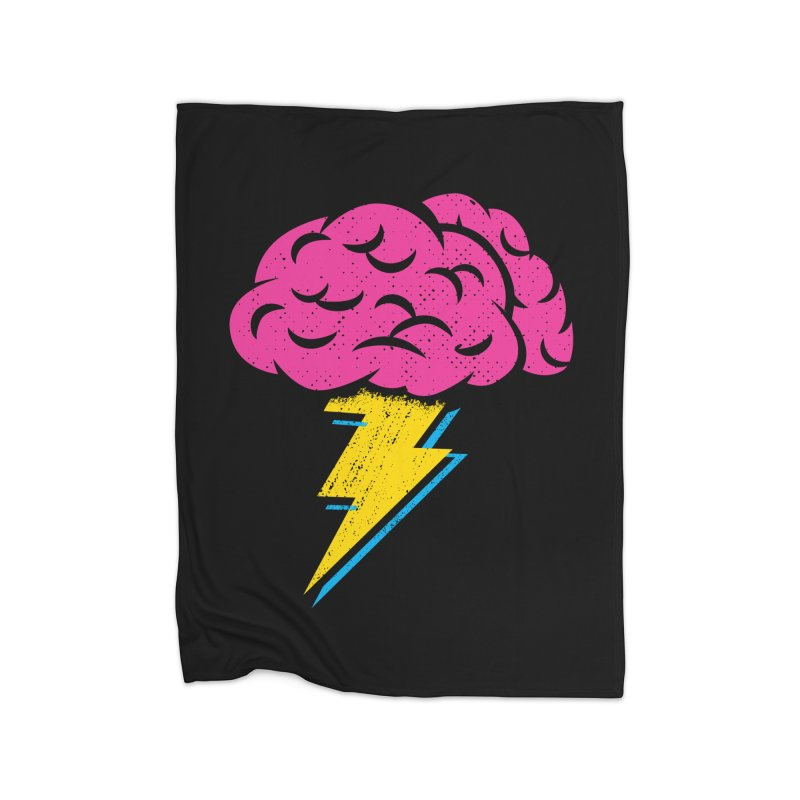 Brainstorm Home Fleece Blanket by Rocket Artist Shop