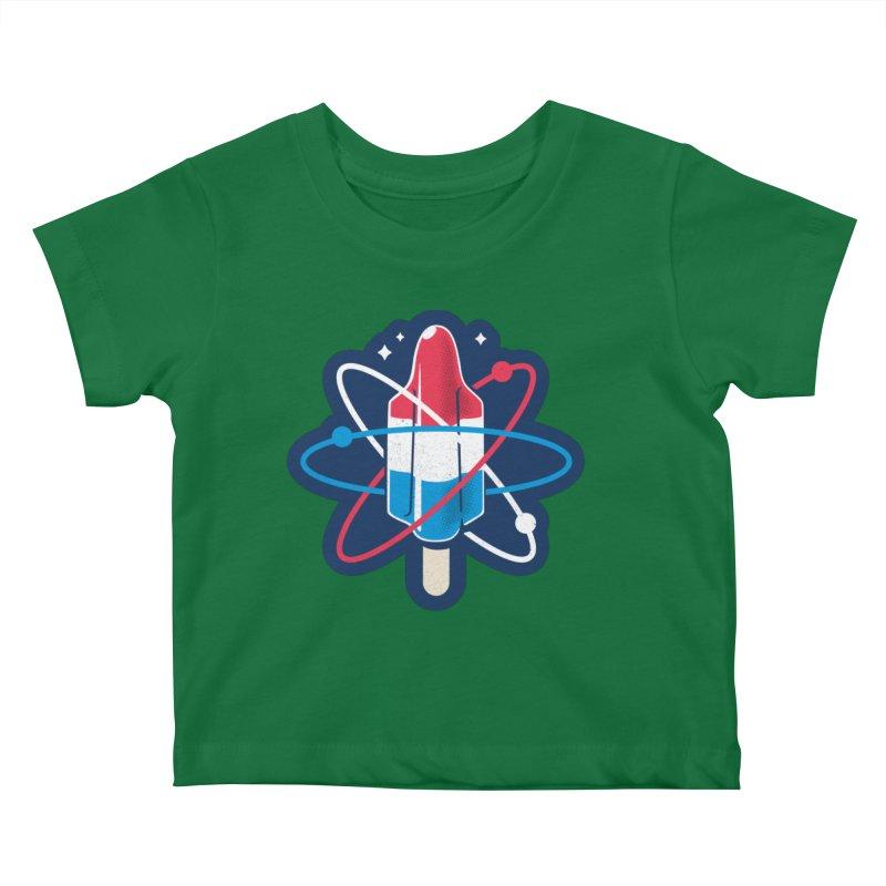 Pop Science (patch) Kids Baby T-Shirt by Rocket Artist Shop