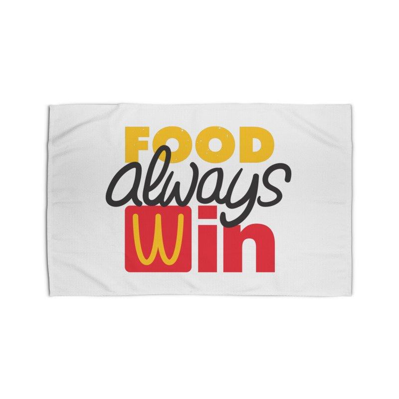 Food Always Win Home Rug by Rocket Artist Shop