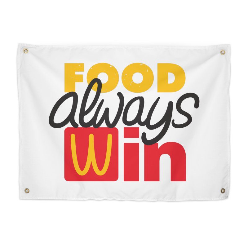 Food Always Win Home Tapestry by Rocket Artist Shop