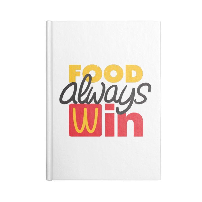 Food Always Win Accessories Notebook by Rocket Artist Shop