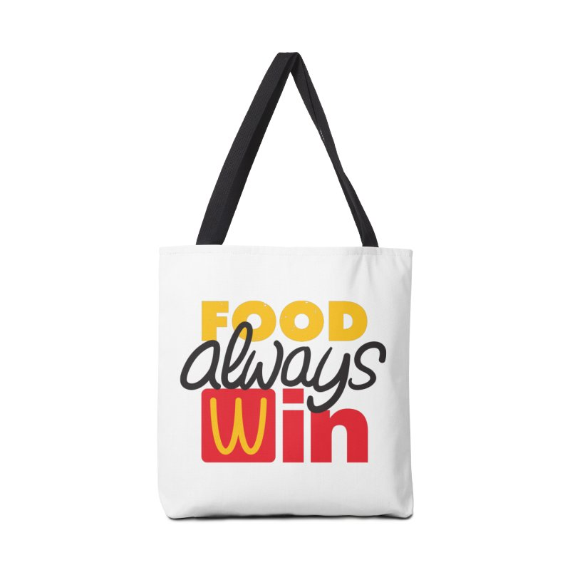 Food Always Win Accessories Bag by Rocket Artist Shop