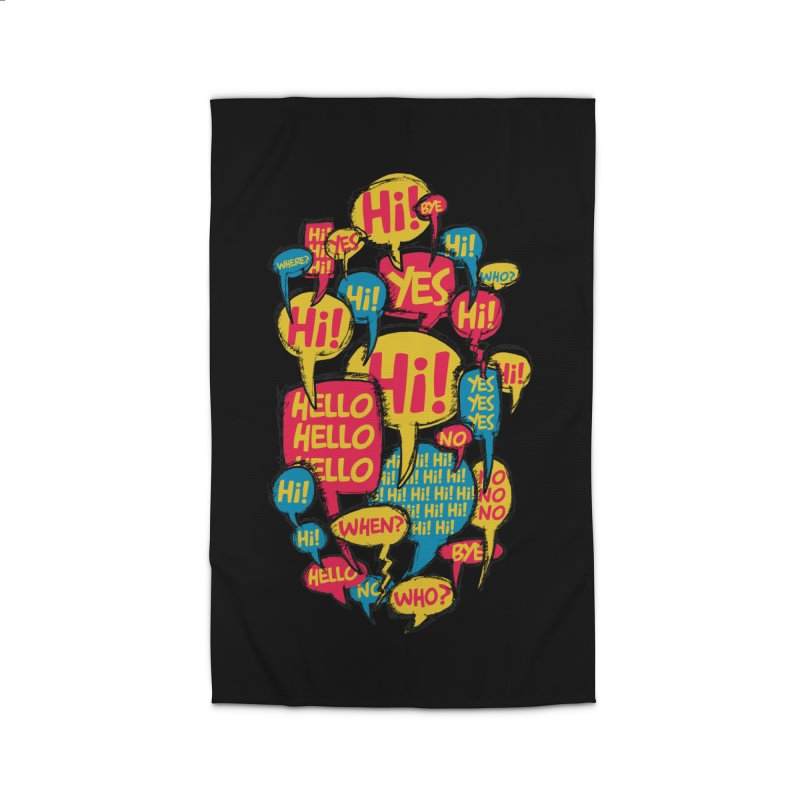 I don´t want to talk Home Rug by Rocket Artist Shop