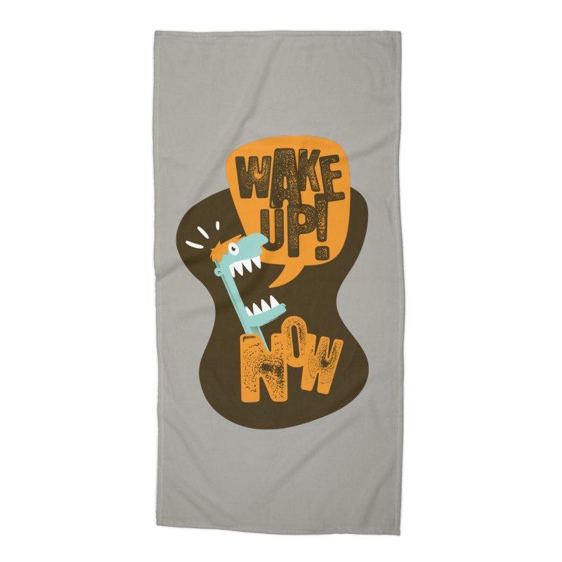 Wake up! Accessories Beach Towel by Rocket Artist Shop