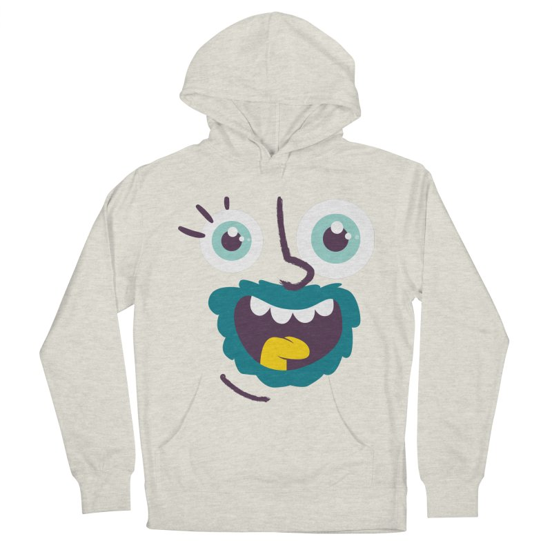 Ready to live! Men's French Terry Pullover Hoody by Rocket Artist Shop