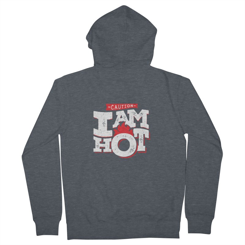 CAUTION Men's French Terry Zip-Up Hoody by Rocket Artist Shop