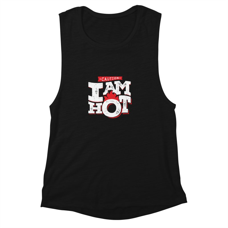 CAUTION Women's Muscle Tank by Rocket Artist Shop