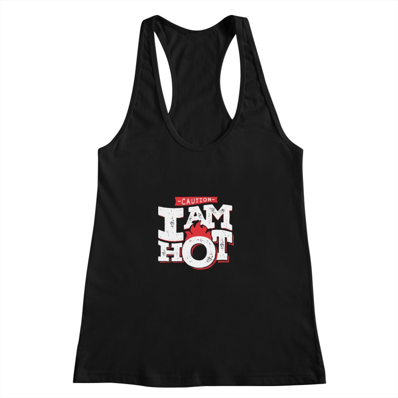 CAUTION Women's Racerback Tank by Rocket Artist Shop