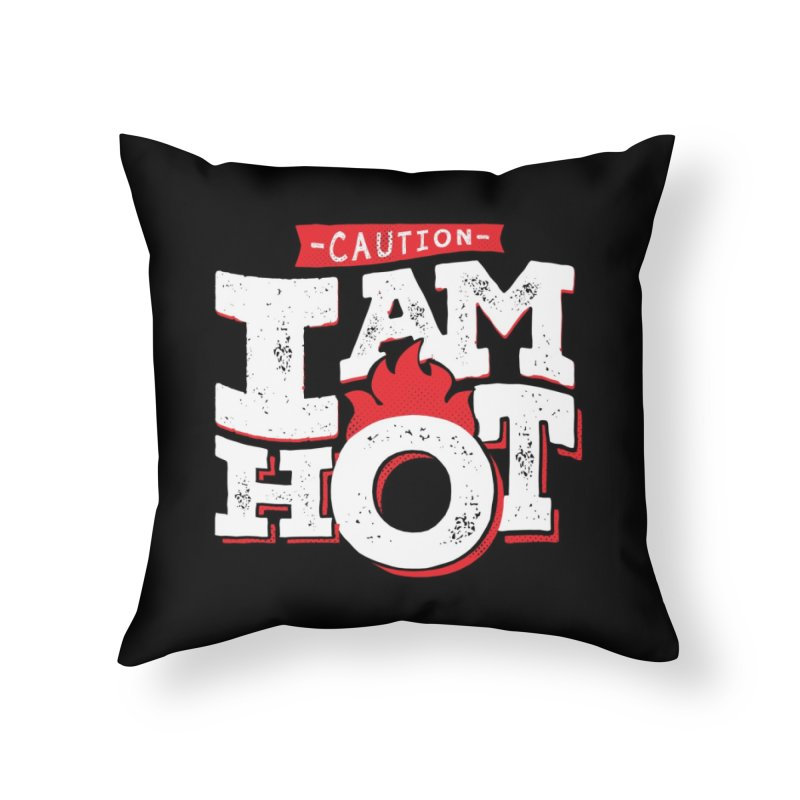 CAUTION Home Throw Pillow by Rocket Artist Shop