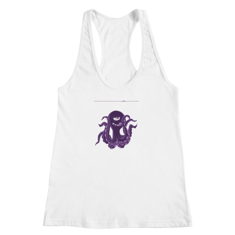 Deep Purple Women's Racerback Tank by Rocket Artist Shop