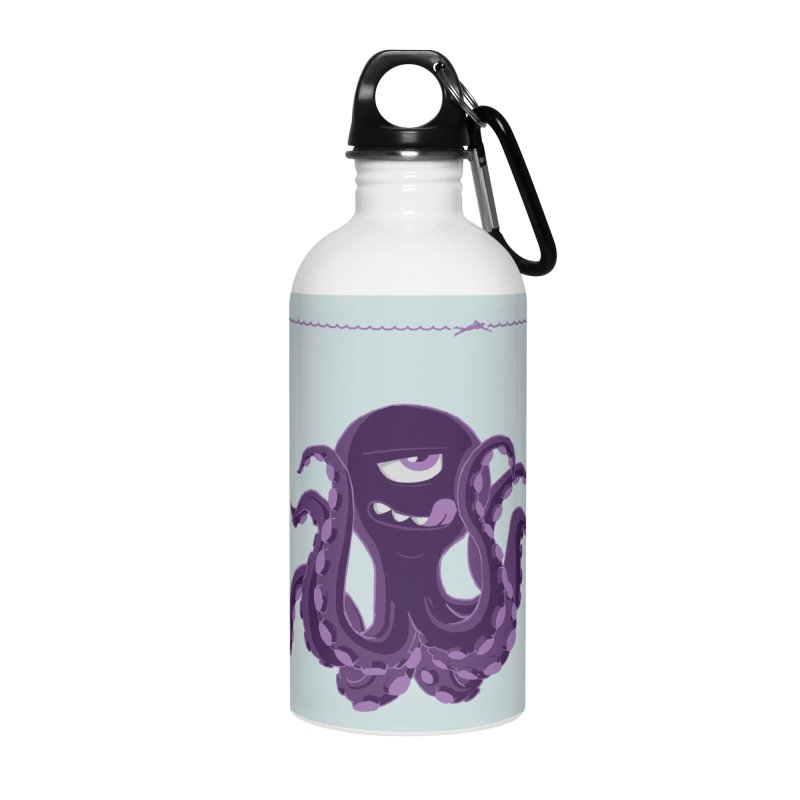 Deep Purple Accessories Water Bottle by Rocket Artist Shop