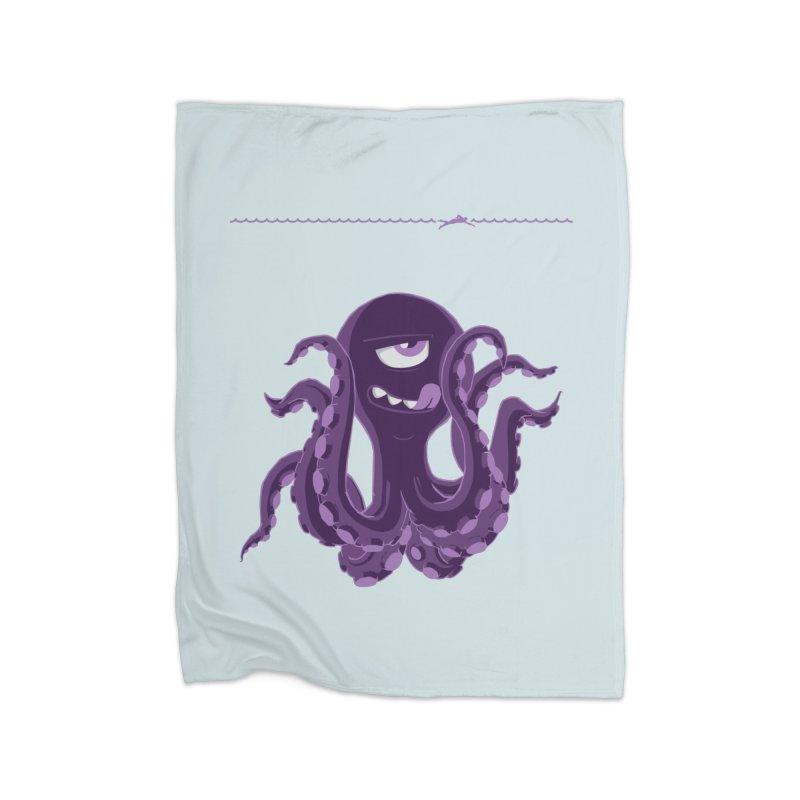 Deep Purple Home Blanket by Rocket Artist Shop