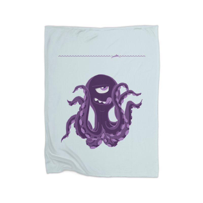 Deep Purple Home Fleece Blanket Blanket by Rocket Artist Shop