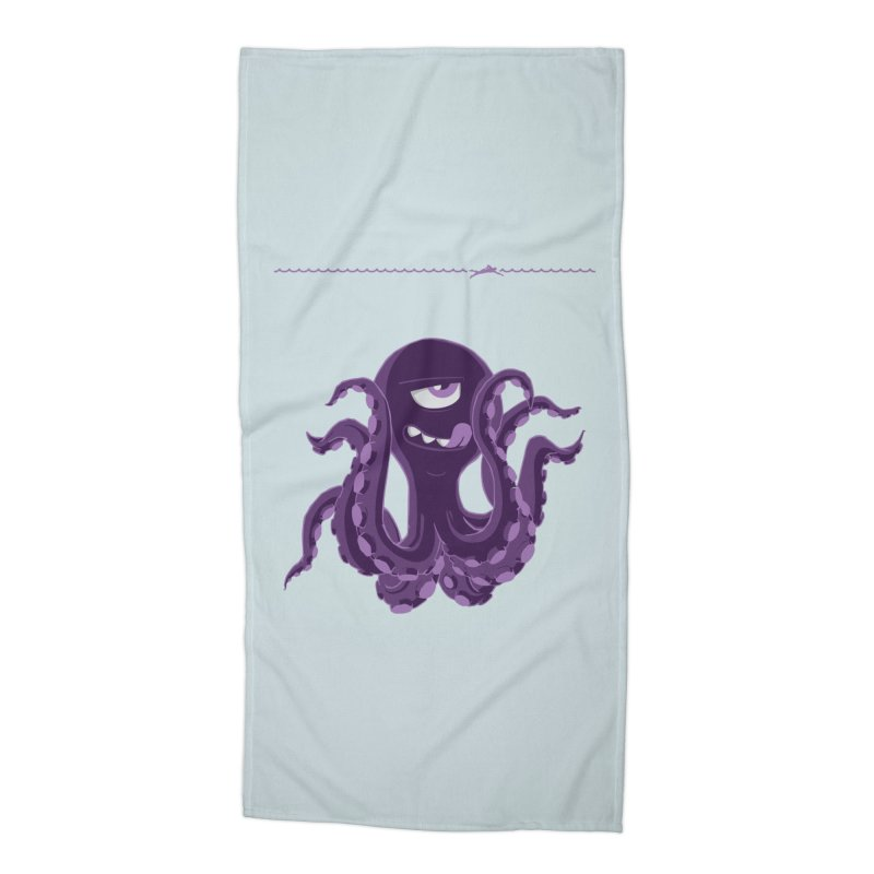 Deep Purple Accessories Beach Towel by Rocket Artist Shop