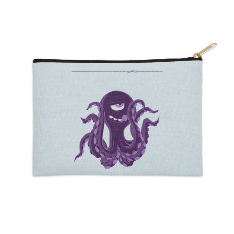 Deep Purple Accessories Zip Pouch by Rocket Artist Shop