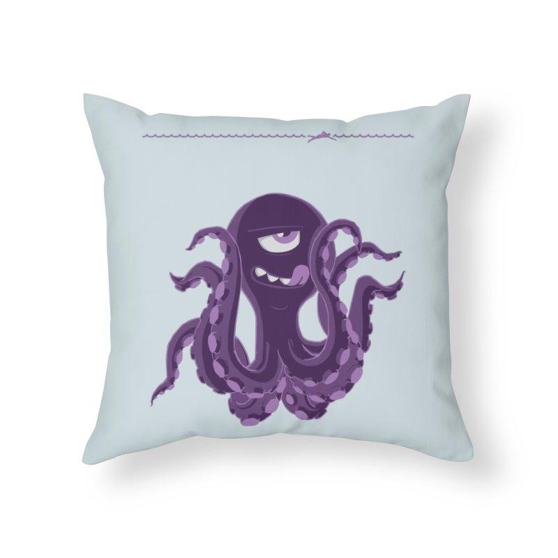 Deep Purple Home Throw Pillow by Rocket Artist Shop