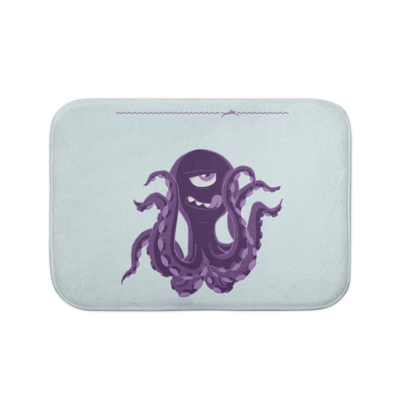 Deep Purple Home Bath Mat by Rocket Artist Shop