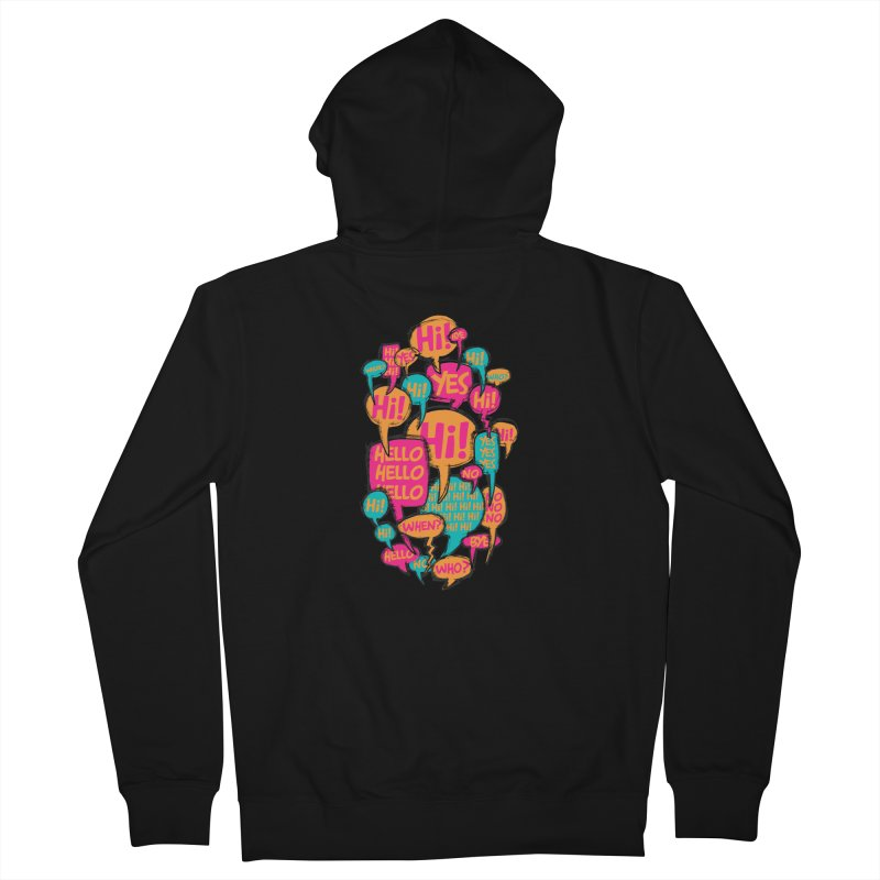 Automatic Conversation Women's Zip-Up Hoody by Rocket Artist Shop