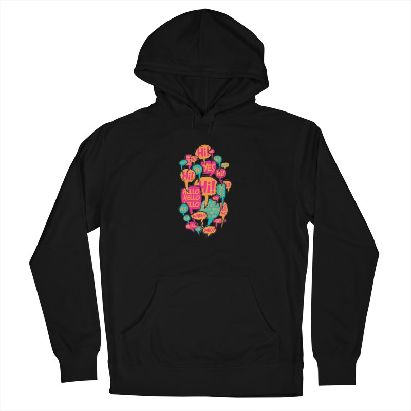 Automatic Conversation Men's French Terry Pullover Hoody by Rocket Artist Shop