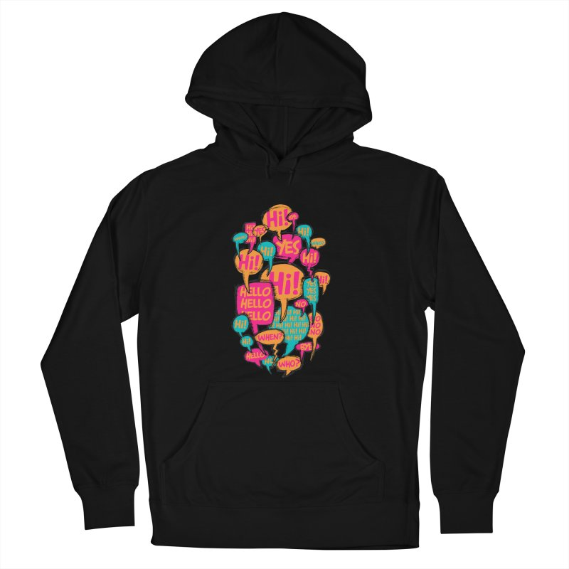 Automatic Conversation Women's French Terry Pullover Hoody by Rocket Artist Shop