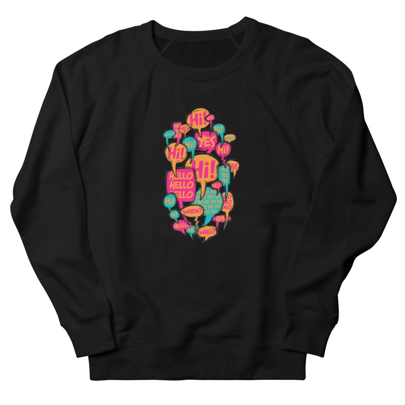 Automatic Conversation Men's French Terry Sweatshirt by Rocket Artist Shop