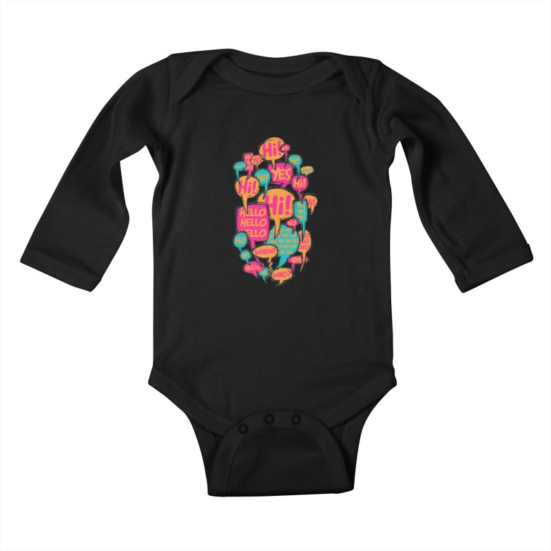 Automatic Conversation Kids Baby Longsleeve Bodysuit by Rocket Artist Shop