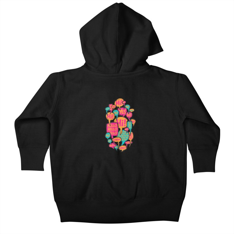 Automatic Conversation Kids Baby Zip-Up Hoody by Rocket Artist Shop