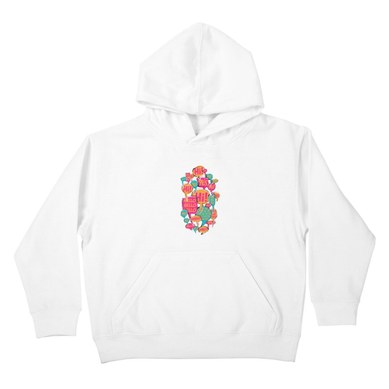 Automatic Conversation Kids Pullover Hoody by Rocket Artist Shop