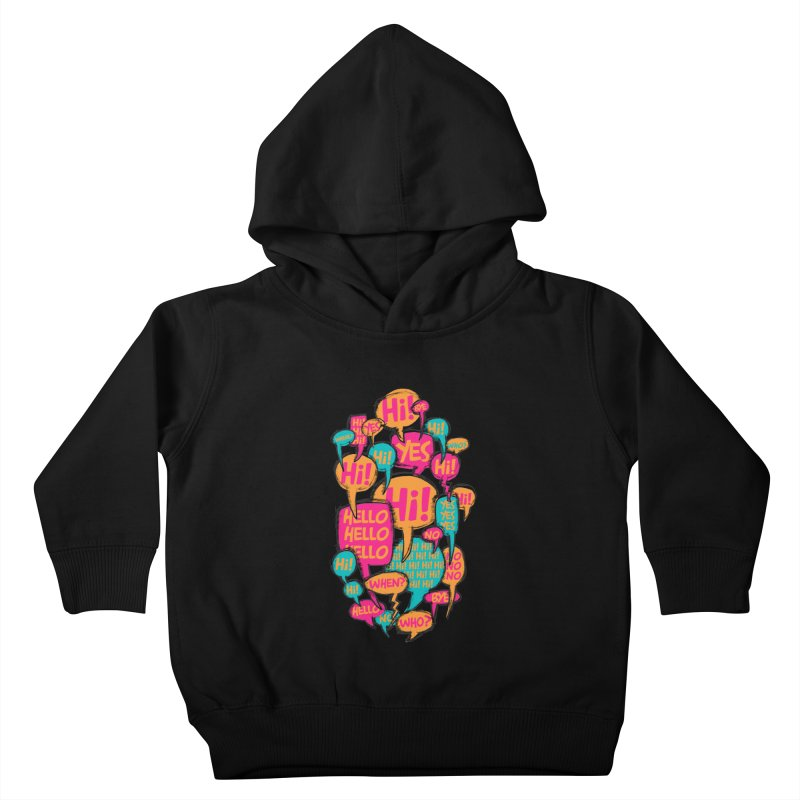 Automatic Conversation Kids Toddler Pullover Hoody by Rocket Artist Shop