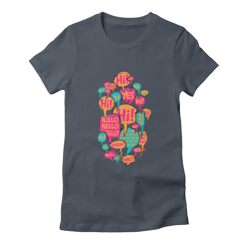 Automatic Conversation Women's T-Shirt by Rocket Artist Shop