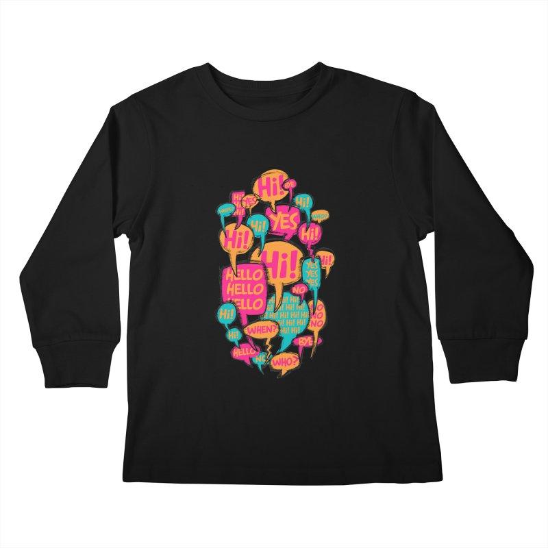 Automatic Conversation Kids Longsleeve T-Shirt by Rocket Artist Shop