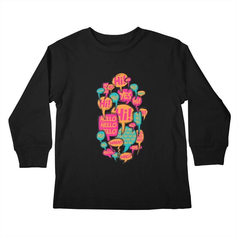 Automatic Conversation Kids Longsleeve T-Shirt by Rocket Artist Shop