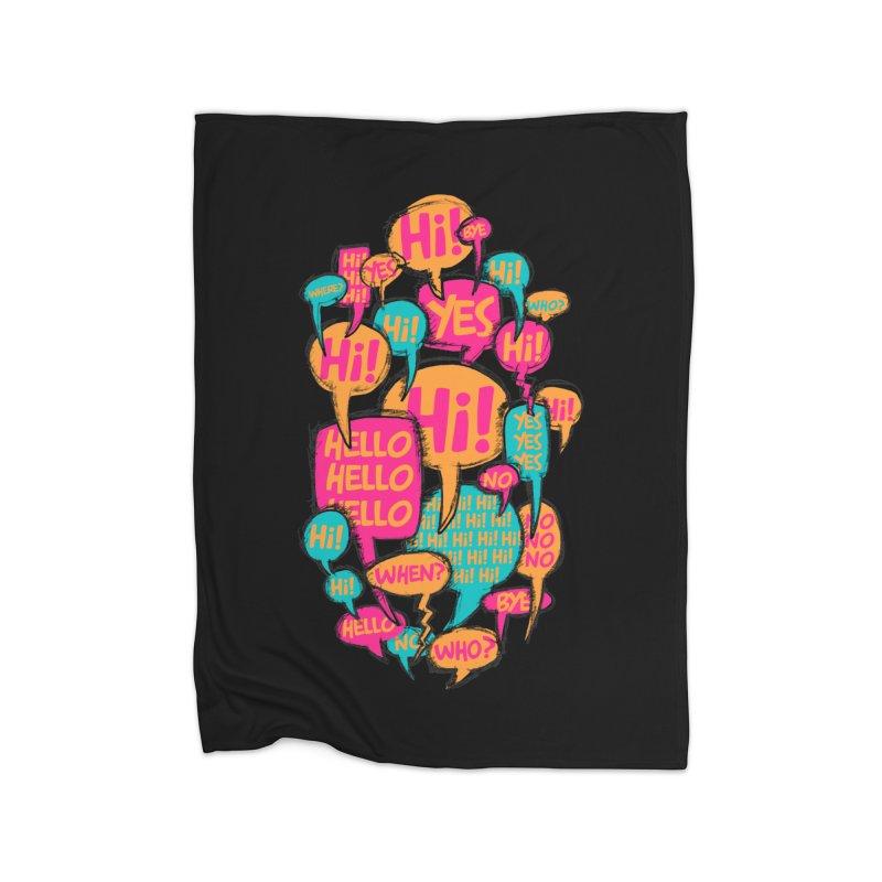 Automatic Conversation Home Fleece Blanket Blanket by Rocket Artist Shop