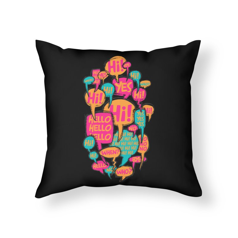 Automatic Conversation Home Throw Pillow by Rocket Artist Shop