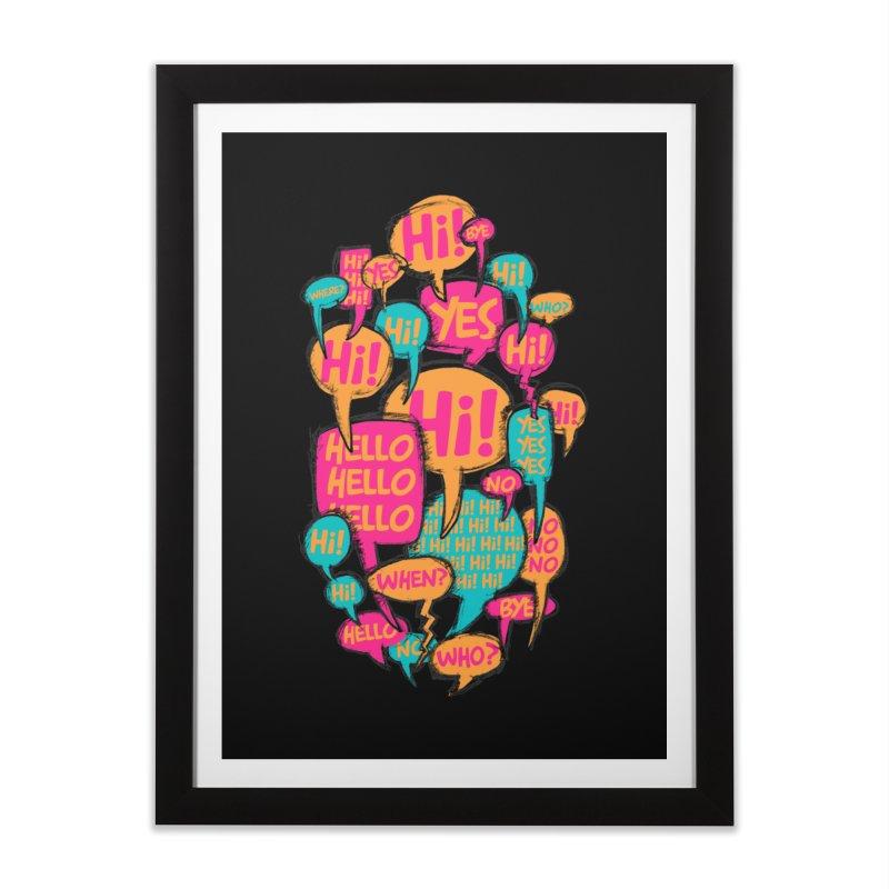 Automatic Conversation Home Framed Fine Art Print by Rocket Artist Shop