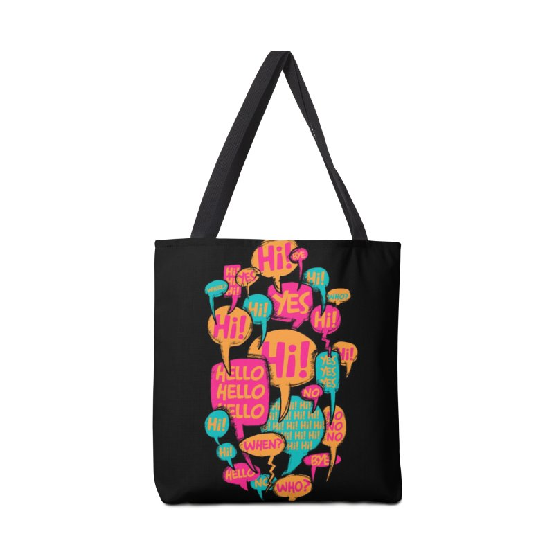 Automatic Conversation Accessories Tote Bag Bag by Rocket Artist Shop