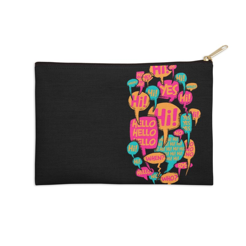 Automatic Conversation Accessories Zip Pouch by Rocket Artist Shop