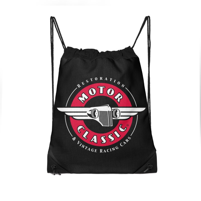 Motor Classic Accessories Drawstring Bag Bag by Rocket Artist Shop