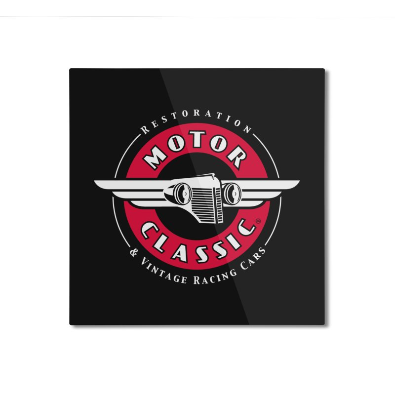 Motor Classic Home Mounted Aluminum Print by Rocket Artist Shop