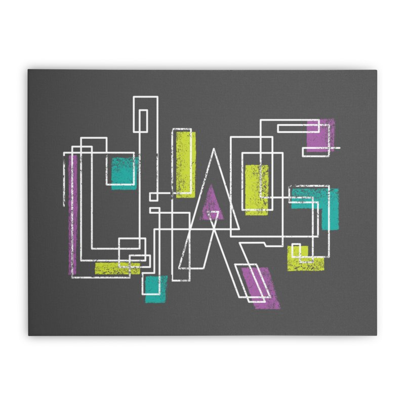 CHAOS Home Stretched Canvas by Rocket Artist Shop
