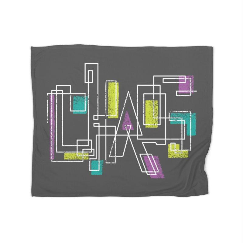 CHAOS Home Fleece Blanket Blanket by Rocket Artist Shop
