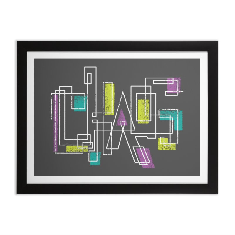 CHAOS Home Framed Fine Art Print by Rocket Artist Shop