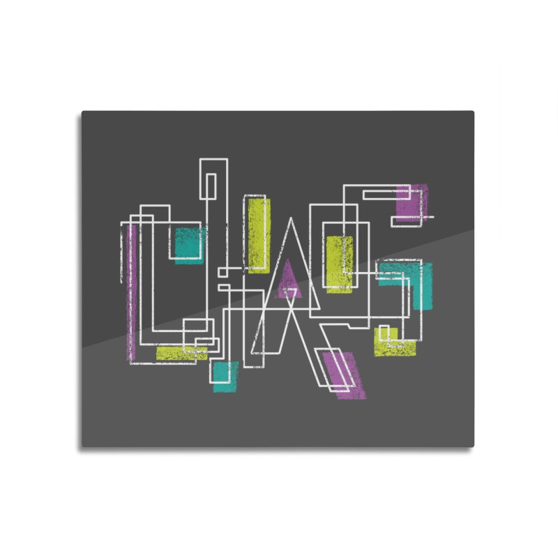 CHAOS Home Mounted Aluminum Print by Rocket Artist Shop