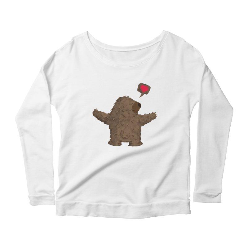 Big Hug Women's Scoop Neck Longsleeve T-Shirt by Rocket Artist Shop
