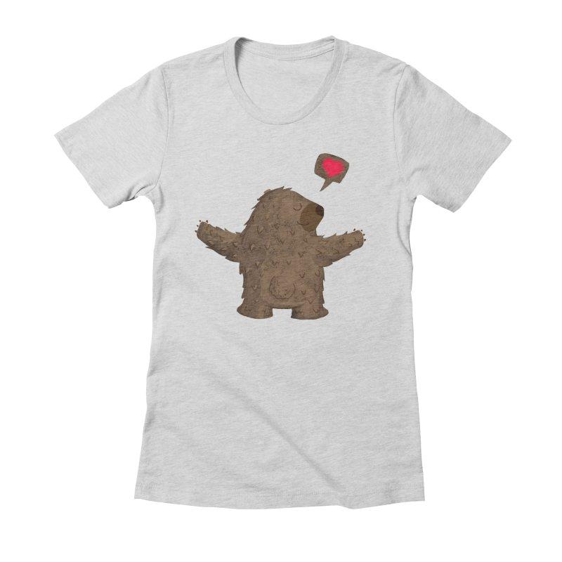Big Hug Women's Fitted T-Shirt by Rocket Artist Shop