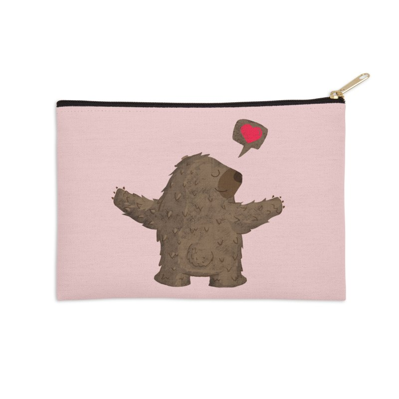Big Hug Accessories Zip Pouch by Rocket Artist Shop